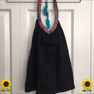 <donated> LA Hearts boho halter top
